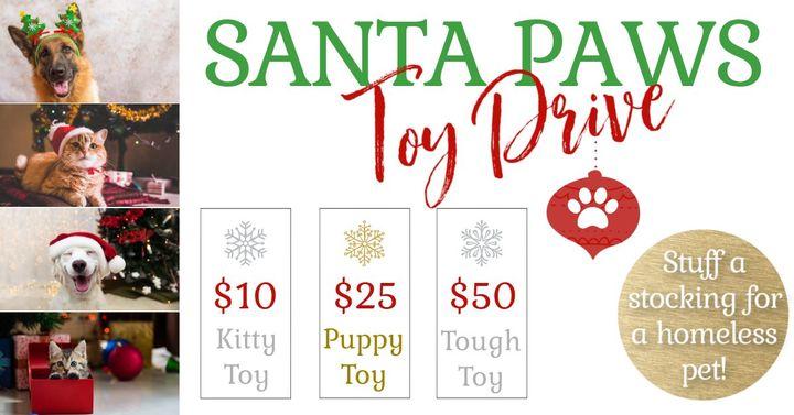 Santa Paws Toy Drive